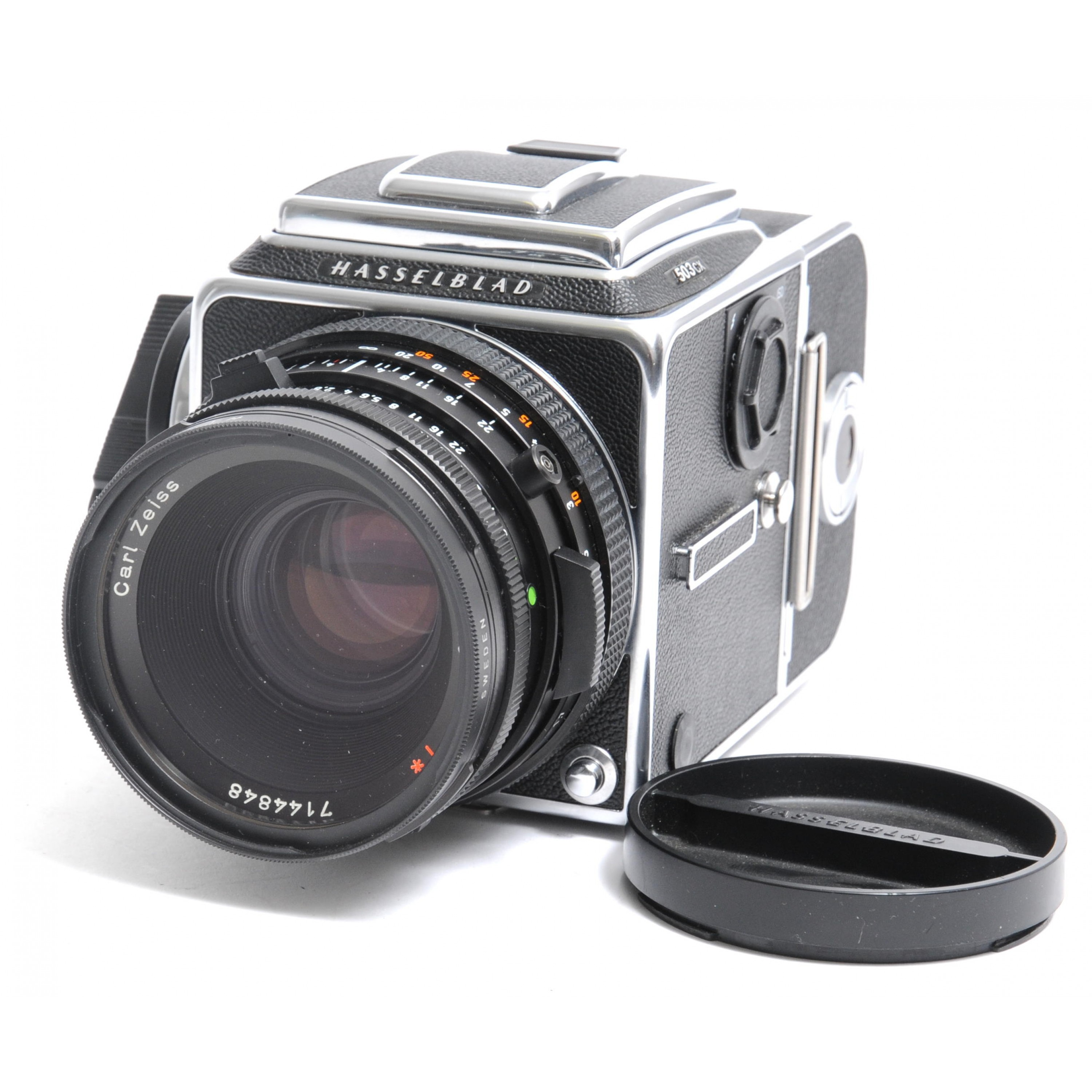 Hasselblad  503 CX  Camera  Carl Zeiss Planar 2.8 / 80mm T*  Multicoated with A12 Magazin